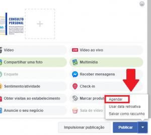 Agendar posts no Facebook
