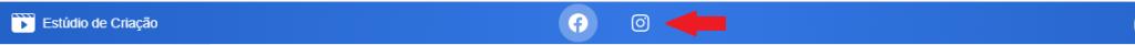 Logomarcas do facebook e instagram no estúdio de criação.